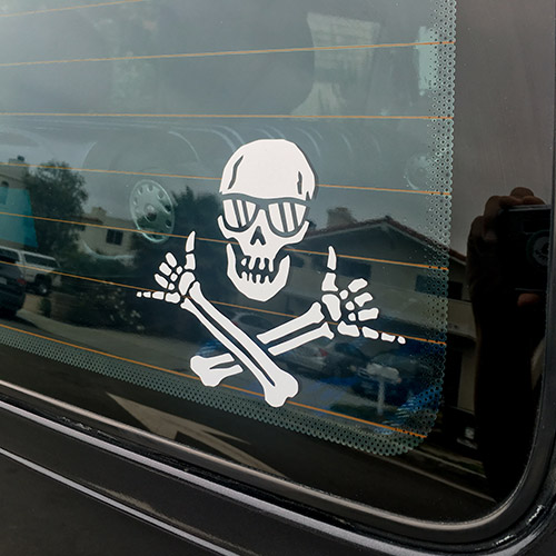 Shaka Pirate Decal Sticker Wheeland Brothers logo